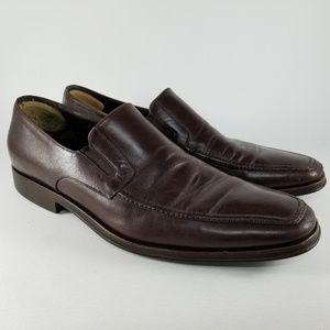 Bruno Magli Nappa Leather Loafers Men's 11 Brown